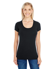 Threadfast Ladies' Spandex Short-Sleeve Scoop Neck T-Shirt