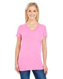 Threadfast Ladies' Pigment-Dye Short-Sleeve V-Neck T-Shirt