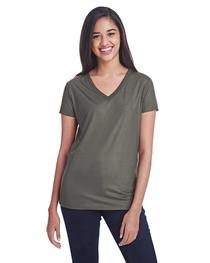 Threadfast Ladies' Liquid Jersey V-Neck T-Shirt