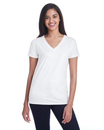 Threadfast Ladies' Liquid Jersey V-Neck T-Shirt