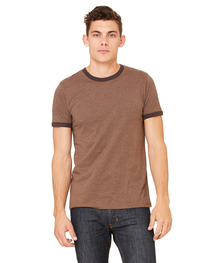 Bella Men's Jersey Short-Sleeve Ringer T-Shirt