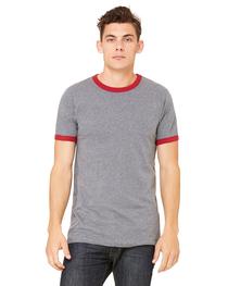Bella Men's Jersey Short-Sleeve Ringer T-Shirt