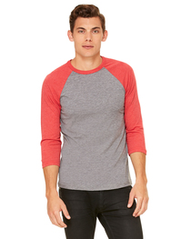 Bella Unisex 3/4-Sleeve Baseball T-Shirt
