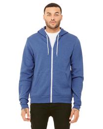 Bella Unisex Poly-Cotton Fleece Full-Zip Hooded Sweatshirt