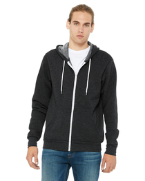 Bella Unisex Poly-Cotton Fleece Full-Zip Hooded Sweatshirt
