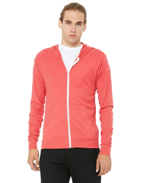 Bella Unisex Triblend Full-Zip Lightweight Hoodie