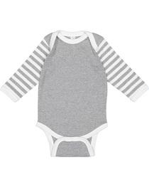 Rabbit Skins Infant Long-Sleeve Baby Rib Bodysuit