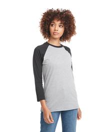 Next Level Unisex CVC 3/4 Sleeve Raglan Baseball T-Shirt