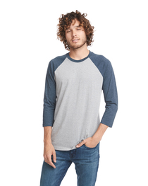 Next Level Unisex CVC 3/4 Sleeve Raglan Baseball T-Shirt