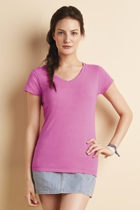 Gildan® Softstyle® Junior Fit V-neck Ladies' T-shirt