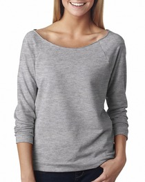 Next Level Ladies' French Terry Raw-Edge 3/4-Sleeve Raglan