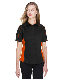 North End Ladies' Fuse Colorblock Twill Shirt
