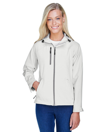 North End Ladies' Two-Layer Soft Shell Hooded Jacket