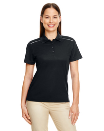 Core 365 Ladies' Radiant Piqué Polo  Reflective Piping