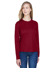 Core 365 Ladies' Agility Long-Sleeve Piqué Crewneck