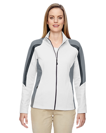 North End Ladies' Strike Colorblock Fleece Jacket