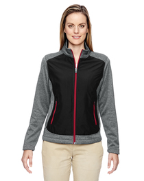 North End Ladies' Victory Hybrid Performance Fleece Jacket