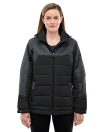 North End Ladies' Meridian Insulated Jacket  Print