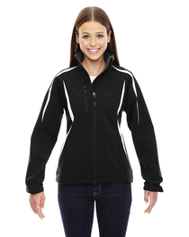 North End Ladies' Enzo Colorblocked Soft Shell Jacket