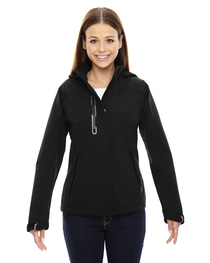 North End Ladies' Axis Soft Shell Jacket  Graphic Accents