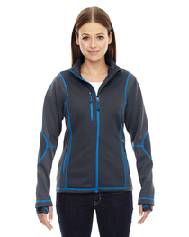 North End Ladies' Pulse Textured Bonded Fleece Jacket  Print