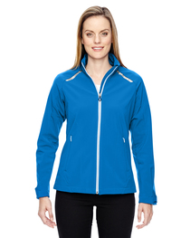 North End Ladies' Soft Shell Jacket  Laser Stitch Accents