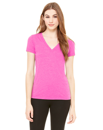 Bella Ladies' Triblend Short-Sleeve Deep V-Neck T-Shirt