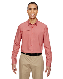 North End Men's Excursion F.B.C. Textured Performance Shirt