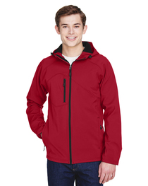 North End Men's Two-Layer Soft Shell Hooded Jacket