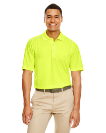Core 365 Men's Radiant Piqué Polo  Reflective Piping