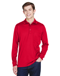 Core 365 Adult Long-Sleeve Piqué Polo  Pocket