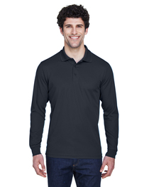 Core 365 Men's Pinnacle Performance Long-Sleeve Piqué Polo