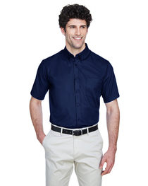 Core 365 Men's Tall Optimum Short-Sleeve Twill Shirt
