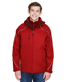 North End Men's Angle 3-in-1 Jacket with Bonded Fleece Liner