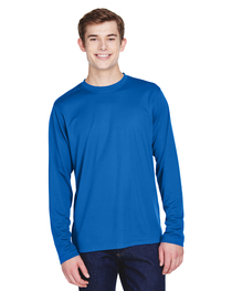 Core 365 Men's Agility Long-Sleeve Piqué Crewneck