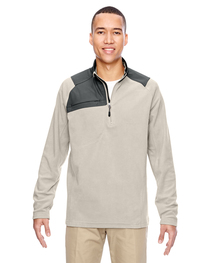 North End Adult Trail Fabric-Block Fleece Quarter-Zip