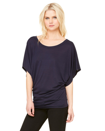 Bella Ladies' Flowy Draped Sleeve Dolman T-Shirt