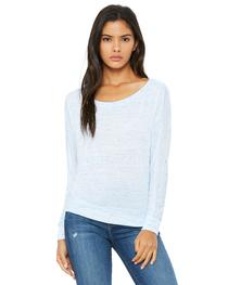 Bella Ladies' Flowy Long-Sleeve Off Shoulder T-Shirt