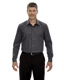 North End Men's Wrinkle-Free Cotton Striped Tape Shirt