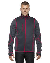 North End Men's Pulse Textured Bonded Fleece Jacket  Print