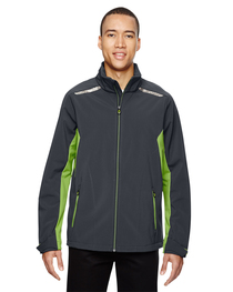 North End Men's Soft Shell Jacket  Laser Stitch Accents