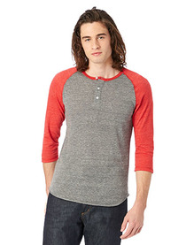 Alternative Men's Eco-Jersey™ 3/4-SleeveRaglan Henley