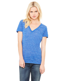 Bella Ladies' Jersey Short-Sleeve Deep V-Neck T-Shirt
