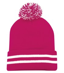 ATC™  Striped Cuff Pom Pom Toque