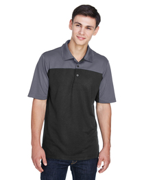 Core 365 Men's Balance Colorblock Performance Piqué Polo