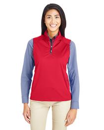 Core 365 Ladies' Techno Tech-Shell Quarter-Zip Vest