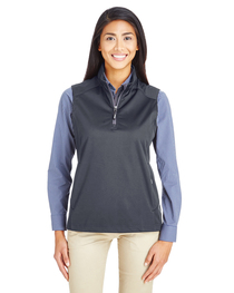 Core 365 Ladies' Techno Tech-Shell Quarter-Zip Vest