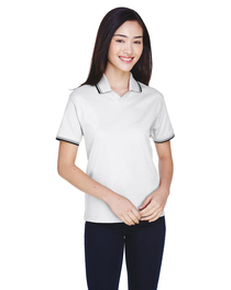 Devon & Jones Ladies' Tipped Perfect Pima Interlock Polo