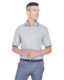 Devon & Jones Men's Tipped Perfect Pima Interlock Polo