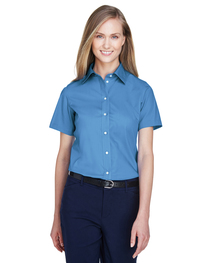 Devon & Jones Ladies' Crown Woven Collection™ Short-Sleeve S